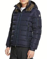 $3200 MONCLER Men BLUE DOWN HOOD FUR AUTHENTIC quilted PARKA JACKET COAT 5 XL