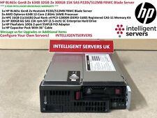 HP BL465c Gen8 6348 2x 32GB 1x 300GB 15K SAS 1x 10GB Servidor Blade 554FLB P220