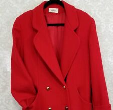 Vintage Red Wool Worthington Women's full-length Coat Size 10