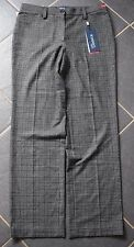Bnwt Atelier Gardeur Kayla Check Special Fit Trousers Grey - UK 18S (R173)