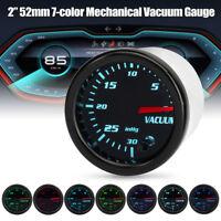 2'' 52mm Universal Car 7 Color LED Mechanical Turbo Boost Vacuum Gauge Meter