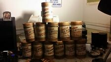 12 GOOD CONDITION EDISON 2 MINUTE WAX CYLINDERS IN CONTAINERS WITH LIDS.