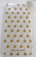 Michael Kors NIB $50 Phone Case iPhone 7 / 8 PLUS Clear Gold Glitter Polka Dot