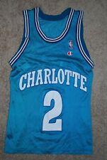 Vintage #2 Larry Johnson Charlotte Hornets NBA Jersey (Men's Small) Champion