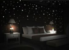 WD Adesivo murale Cielo stellato 195 luminoso fluorescente Stelle Punti luce