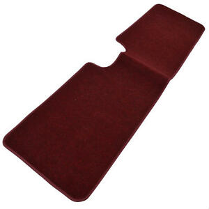 Burgundy Carpet Floor Mat / Car Liner for Full Rear Row Protection (1 PC)