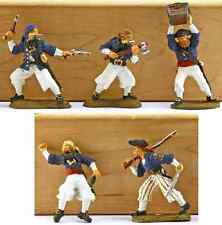 Barzso Royal Navy Boarding Party 'D' - Five (5) painted 54mm resin toy soldiers
