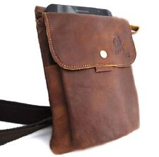 Leather natural small bag wallet Pocket Waist Pouch phone camera retro brown new