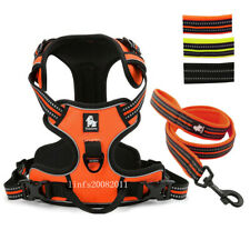Reflective Dog Harness and Leash set for Medium Large Dogs Car Harness Vest S-XL