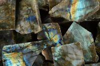"Polished Labradorite Slice 2 1/2"" Metaphysical Gemstone Raw Healing Chakra Stone"