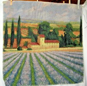 Lavender Skies - Field Of Purple Flowers Tapestry Wall Hanging Fabric Piece