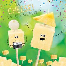 Say Cheese Googlies Birthday Card Tracks Wobbly Eyes Greeting Cards