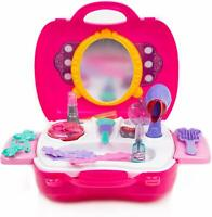 Toysery Pretend Play Cosmetic and Makeup Toy Set Kit for Little Girls & Kids