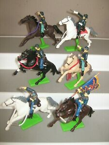 Britains Deetail union mounted soldiers 6 in all 6 poses mint cond unboxed. no 2
