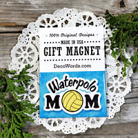 Waterpolo Mom * Gift Fridge Magnet * DecoWords * H2o Polo Water polo pool water
