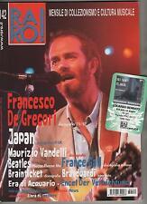 raro ! # 142 FRANCESCO DE GREGORI JAPAN ANGELO BRANDUARDI inclusa CARD 58