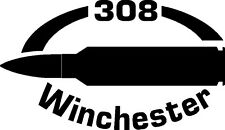 308 Winchester Rifle Ammunition Bullet exterior oval decal sticker car or wall