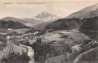 STUBAITAL AUSTRIA AUSSICHT IN DAS SILLTAL STUBAI VALLEY RAILWAY POSTCARD c1910s
