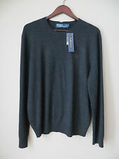 NWT Ralph Lauren Polo 100% Italian Cashmere Sweater Charcoal 50% off Retail
