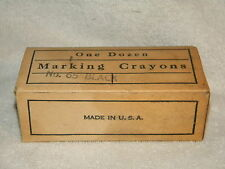 VINTAGE BOX OF 12 AMERICAN OLD FAITHFUL CRAYON #65 FOR MARKING ON LEATHER IN BOX