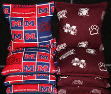 MISSISSIPPI STATE BULLDOGS MISSISSIPPI OLE MISS CORNHOLE BEAN BAGS or Pick Teams