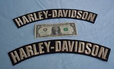 HARLEY-DAVIDSON MOTORCYCLE EMBROIDERED BADGE LEATHER JACKET VEST LOGO BIG PATCH