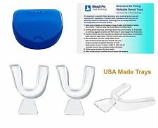 Dental Tray Set 3 Moldable Impression Teeth Whitening Trays with Retainer Case.