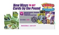 Baseball Trading Cards by the Pound 1LB of Inserts, Parallels, Numbered Cards
