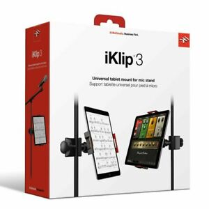 IK Multimedia iKlip3 for iPad or Tablet with Mic Stand Adapter - FAST SHIPPING