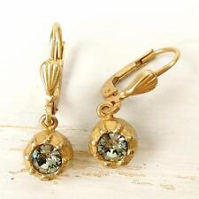 La Vie Parisienne Catherine Popesco Small Black Swarovski Crystal Ball Earrings