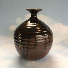 Vintage Noboru Kubo Japanese Canada Studio Pottery Vase Master Potter