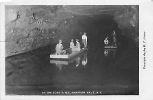 H51/ Mammoth Cave Kentucky RPPC Postcard 1907 Echo River Interior