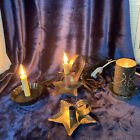 Lot of 4 Primitive Candle Sconce And Tin Nightlights Lamps And Candle Holder