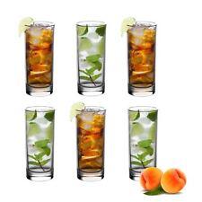 Vinsani Set of 6 Traditional Highball Drinking Glass Tumblers - 250ml (8.8oz)