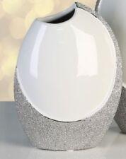 Ovale Deko-Blumentöpfe & -Vasen aus Keramik Casablanca