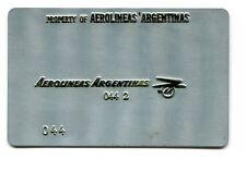 Vintage Airline Ticket Validation Metal Plate AEROLINEAS ARGENTINA  travel agent