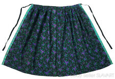 Antique German folk costume apron purple floral cashmere wool black ethnic rare