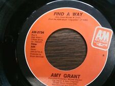 """AMY GRANT 45 RPM """"Find a Way"""" & """"Angels"""" VG+ condition"""
