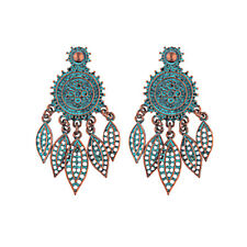 Retro Women's Rose Gold/Silver Bohemian Style Alloy Drop Dangle Vintage Earrings