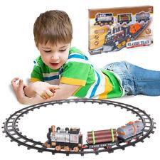Pista Treno Trenino per Bambini Lunghezza 144cm con Binari Locomotiva e 2 Vagoni