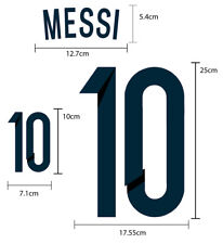 MESSI #10 Argentina Home World Cup 2014 PU NAME NUMBER SOCCER FOOTBALL PRINT