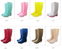 Womens Mid Calf Rain Boot Hot Waterproof Shoes Chic Leisure Outwear Snow Comfort