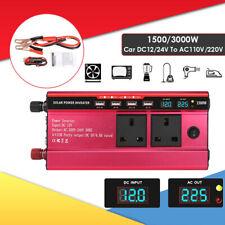 Electronic 1500/3000W Car DC 12V to AC 230V Power Inverter Charger Converter UK