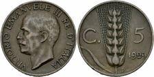 Italien Vittorio Emanuele III. 5 Centesimi 1929 R Rom Bronze Weizen Ähre KM # 59