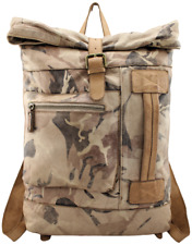 Borsa zaino in pelle vintage camouflage Bayside 84 made in Italy BS 429 Rock