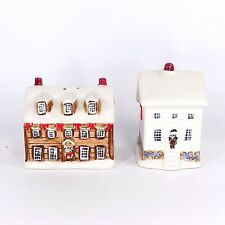 Sakura Cottage Christmas Salt and Pepper Shakers Set Novelty Winter Collectible