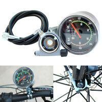Bike Classic Round Speedometer Odometer Mechanical Clock Vintage for Bicycle