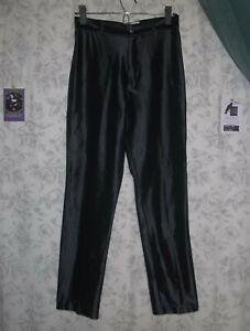 Black Genuine VINTAGE SPANDEX PANTS Jeans S M 80's Hair Band Punk Rock Disco