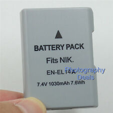 1030mAh Replacement For Nikon EN-EL14a Battery For Nikon DF D5300 D5200 MH-24