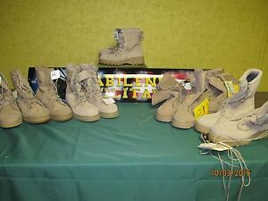 MILITARY GORETEX DESERT TAN COMBAT BOOTS TEMPERATE COLD WEATHER  MADE USA NEW
